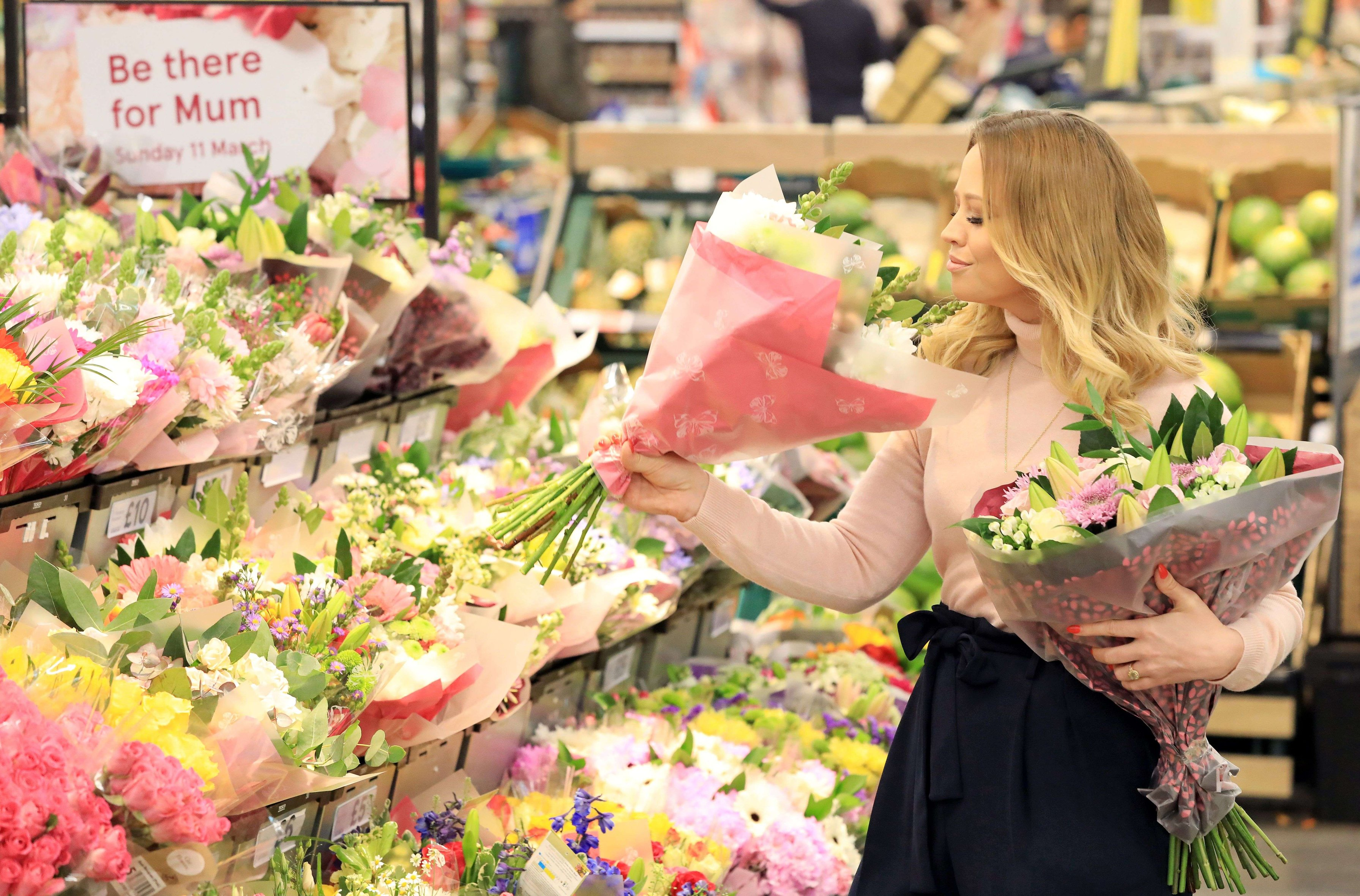 Keywords: Tesco, Mother, flowers, pink